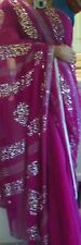 Designer Bollywood Pink Saree With Sequin and Stone Work