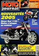 MOTO JOURNAL 1649 BMW R1200 RT SUZUKI DRZ 400 SM HARLEY DAVIDSON 1130 Street Rod