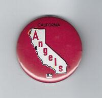 "1970's California Angels button pin back original vintage 1 3/4"" MLB original"