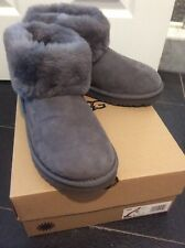UGG CLASSIC MINI FLUFF 1106757 CHArcoal Women's New  SIZE  8 BOOTS, AUTHENTIC