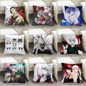 Anime Tokyo Ghoul Satin Pillow Double-Faced Printed Comfortable Cushion Mat