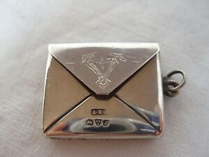 STAMP BOX EDWARDIAN STERLING SILVER CHESTER 1909