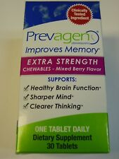 Prevagen Extra Strength Chewables Berry Flavor 30 tablets Improves Memory NEW