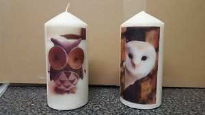 Picture Candles, available in 4 sizes of Natural Candle / Personalisation photos