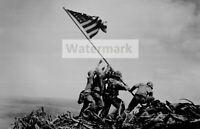 WWII photo Raising the flag on Iwo Jima 352