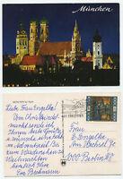 14256 - München bei Nacht - Ansichtskarte, gelaufen von ᅱsterreich nach Berlin