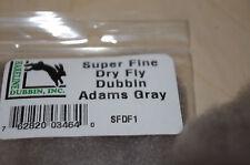 FLY TYING HARELINE DUBBIN DRY FLY DUBBING PACK SUPER FINE ADAMS GRAY