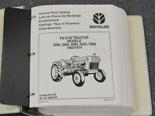 New Holland Pa 9125 2000 3000 4000 5000 Tractor Parts Catalog Manual 1965 1974