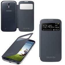 GENUINE Offizielle Samsung Galaxy S4 i9500 Premium Schwarz S View Cover Flip Case