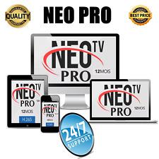 NEO PRO IPTV H.265, 12 mois d'abonnement MAG, Android, IOS, SmartTV, M3U