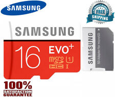 SAMSUNG EVO Plus Micro SD 16GB Class 10 Flash Memory Card w/SD Adapter