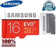 SAMSUNG EVO Plus Micro SD 16GB Class 10 Flash Memory Card w/SD Adapter