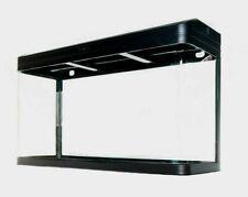 Aquarium Fish Tank ONLY - 290L Glass SMD LED Black White Pump Filter