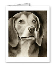 Beagle note cards by watercolor artist Dj Rogers