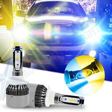 Dual Color Yellow Ice Blue 9005 LED Headlight Bulb Fog Light DRL Daytime Running