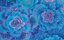 By the Half Yard Philip Jacobs Brassica Blue PWPJ051 Quilting Fabric #EBKC100