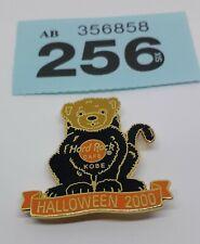(256)  Kobe 🇯🇵 Halloween 2000 Teddy Bear Black Cat Hard Rock Cafe Pin