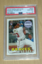 2018 Topps Heritage High Number Action image variation Ronald Acuna PSA 10