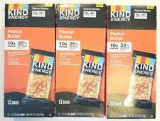 36 bars Kind Energy PEANUT BUTTER 10g Protein Each Gluten Free 03/31/2021