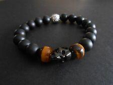 Onyx Golden Tiger Eye Black Crystal Skull Bracelet Baby Chrome King Loungefly