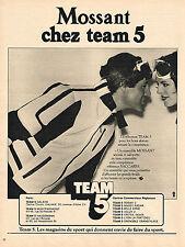 PUBLICITE ADVERTISING 044   1977   MOSSANT   anorak  équipement ski