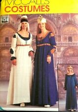 MCCALLS PATTERN 9427 OOP MISSES RENAISSANCE MAIDENS COSTUMES SIZES S-M 8-14