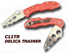 Spyderco Delica Trainer Training Knife w/ Clip C11TR