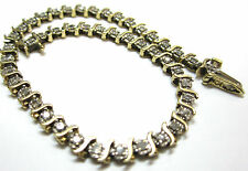 FINE JEWELRY YELLOW GOLD TENNIS BRACELET DESIGNED IN DIAMONDS BEAUTIFUL GIFT