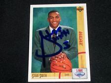 Miami Heat Steve Smith Auto Signed 1991/92 UD ROOKIE Card #4  RARE  K