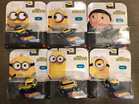 2020 Hot Wheels Minions The Rise of Gru Character Cars Complete Set of 6 HOT