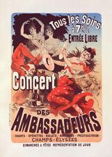 Concert des Ambassadeurs  by Jules Cheret 90cm x 64cm Art Paper Print