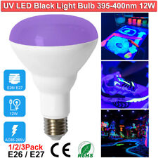 12W UV LED Black Light Bulbs for Glow in The Dark Fluorescent Poster Neon Glow