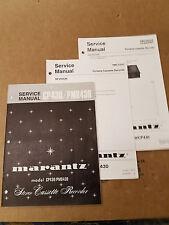 Marantz PMD430 CP430 Tape Recorder Service Manual Set