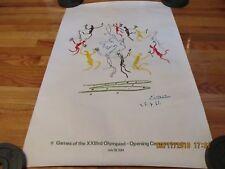 "1974 PABLO PICASSO ""LA RONDE"" 1984 XXIII OLYMPIAD OPENING CEREMONY PRINT HADDADS"