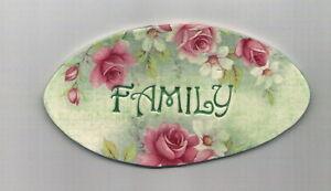 Mosaic Tiles FAMILY plaque Pink Rose's Garden Flowers Kiln fired Ceramic OL54