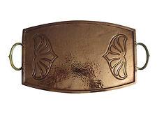 Circa 1900 Art Nouveau Jugendstil Copper Brass Tray