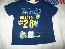 tee shirt garçon minion de taille 98