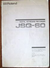 Roland JSQ-60 Digital Keyboard Recorder Sequencer Original Owners Manual Booklet