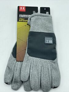 Under Armour Large ColdGear Infrared Fleece Thermo-conductive Gloves New w Tags