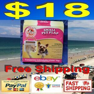 """Ideal Pet Products Cat Flap - Small Cat Door - 6 1/4"""" x 6 1/4"""" Lexan Flap -"""