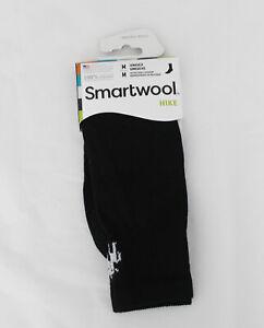 NWT Smartwool Size Medium Merino Wool Unisex Black Hike Crew Liner Socks NEW