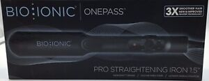 """BioIonic One pass Pro Straightening Iron 1.5"""" 3x Smoother Hair"""