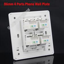 Wall Socket 4 Port RJ11 TEL Panel Faceplate Module RJ11