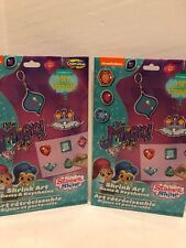 Lot of 2 Shimmer and Shine Gems and Shrink Art Coloring Kit Kids Fun Nickeldeon
