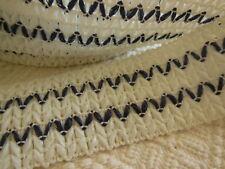 trés large galon vintage synthétique elastique blanc marine chapeau creation