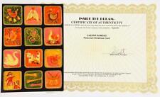 Cesar Romero Personal Hand-Signed Christmas Card W/COA Lot 173