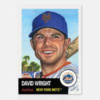 DAVID WRIGHT TOPPS LIVING SET 2018 CARD #87 NEW YORK METS w/ FACSIMILE SIGNATURE