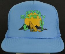 Sys Safety Blue Mesh Trucker Hat Cap with Snapback Adjustable Strap