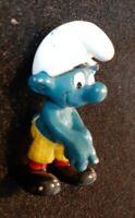 Smurfs 1979 Golfing Happy Smurf Vintage PVC Toy Figure Peyo Figurine Schleich