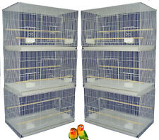 "Lot of 6 Aviary Canaries Budgies Aviaries Breeding Flight Bird Cages 24x16x16""H"